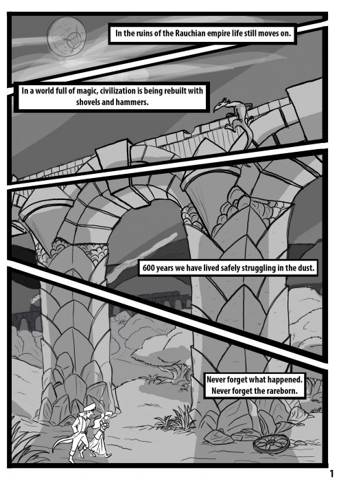 Comic pages Rareborn issue 1 p1