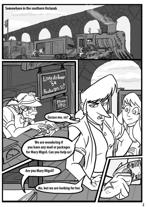 Comic pages Rareborn issue 1 p2