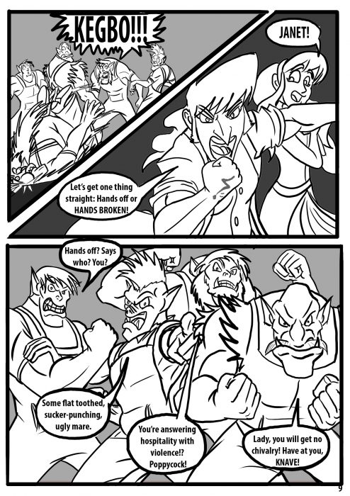 Comic pages Rareborn issue 1 p9